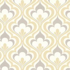 "Brewster Home Fashions Simple Space II Lola Ogee Bargello 33' x 20.5"" Damask 3D Embossed Wallpaper Color:"