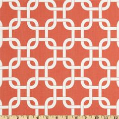 Home Decor Fabric by the Yard Gotcha coral white Premier Prints 1 yd  -  SHIPS FAST. $9.95, via Etsy.