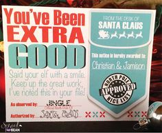 Personalized Naughty & Nice Warning and Reward by SproutnBean, $8.00