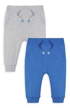 Primark - Pantalón de chándal gris y azul