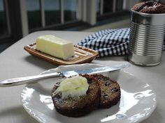 Trisha Yearwood's:  Margaret's Raisin Bread Recipe baked in a can