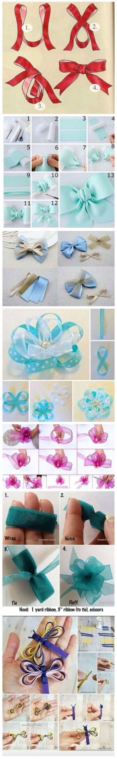Ways to tie ribbons