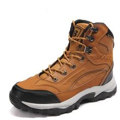 New Arrival Classics Style Men Hiking Shoes Action Leather Men Athletic Shoes Outdoor Jogging Sneakers Leather Hiking Boots, Hiking Shoes, Leather Men, Leather Shoes, Men Hiking, Hiking Gear, Sneakers N Stuff, Yellow Boots, Womens Summer Shoes