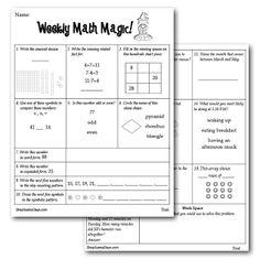 Classroom Freebies: Weekly Math Magic