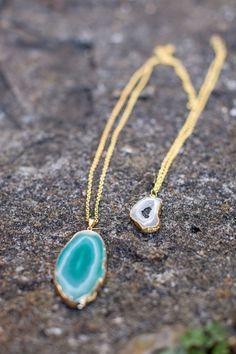 DIY Agate Pendant Necklace