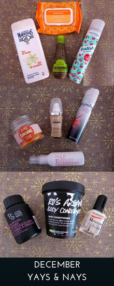 December empties: products I've liked and those I wouldn't repurchase