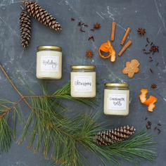 Holiday Candle, Christmas Candle, Apple Cider, Christmas Tree, Cookies, Orange Peel, Cloves Candle, Christmas Eve Candle, Holiday Candles, Winter Scents, Soy