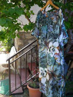 Vestido - túnica de seda estampada