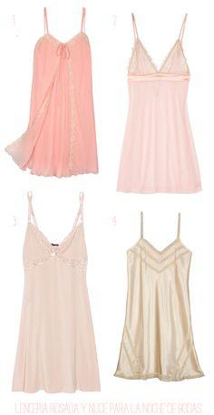 Shopping de lencería para la noche de bodas en rosa y nude #novias