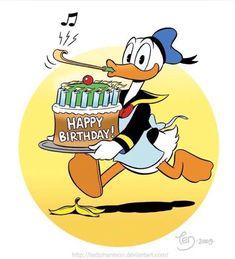 by TedJohansson on DeviantArt Happpy Birthday, Happy Birthday Art, Happy Birthday Messages, Happy Birthday Greetings, Birthday Wishes, Birthday Sayings, Birthday Cards, Disney Happy Birthday Images, Disney Birthday