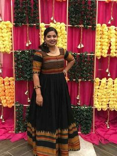 Innovative Ideas to make long gown dresses from old saree - Kurti Blouse Saree Gown, Sari Dress, Anarkali Dress, Lehenga, Anarkali Suits, Kalamkari Dresses, Ikkat Dresses, Bandhani Dress, Long Gown Dress