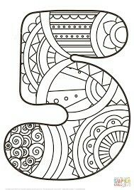Zentangle Numbers Coloring pages. Select from 31983 printable Coloring pages of cartoons, animals, nature, Bible and many more. Star Coloring Pages, Free Printable Coloring Pages, Coloring Pages For Kids, Coloring Sheets, Coloring Books, Colouring, Fun Math, Math Activities, Music Poster