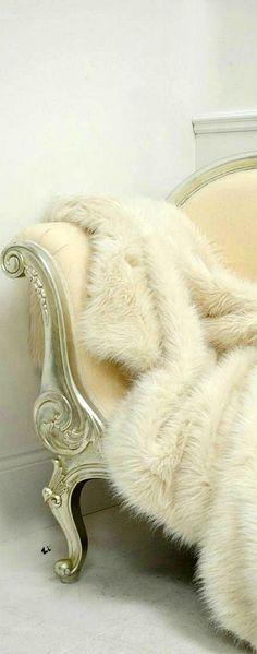 Genoa Cream Fur Throw
