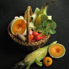 Vegetable basket - 12th Scale