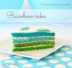 Rainbow cake: tęczowy tort dla chłopca (tęczowego)