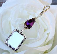 A stunning purple crystal wedding bouquet charm by smilingbluedog