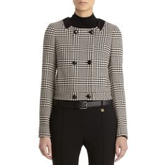 Anne Klein: New Arrivals > Cropped doubled breasted jacket