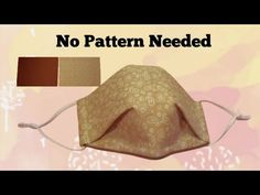 Very Easy Face Mask DIY No Pattern Needed Perfect Fit - YouTube Easy Face Masks, Best Face Mask, Diy Face Mask, Easy Sewing Patterns, Sewing Tutorials, Small Sewing Projects, Homemade Face Masks, Diy Mask, Mask Design