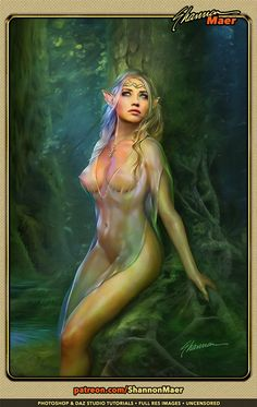 Nude elf fantasy art was