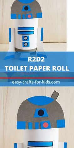 R2D2 Craft with Toilet Paper Roll is perfect Star Wars craft for kids Easy Crafts For Kids, Fun Crafts, Art For Kids, Arts And Crafts, Toilet Roll Craft, Toilet Paper Roll Crafts, Epic Kids, Star Wars Crafts, Creative Thinking
