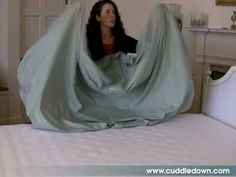 How to Fold a Fitted Sheet! At last, you can have a neat linen closet.