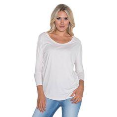 Beam Women's White Slub T-shirt