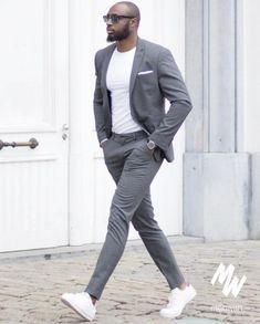 Mens suits la mode par costume gris pour me Outfits Hombre Casual, Blazer Outfits Men, Formal Men Outfit, Trendy Outfits, Trendy Mens Fashion, Mens Fashion Suits, Stylish Men, Mens Suits, Men's Fashion