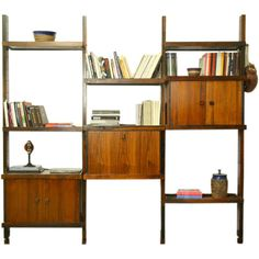 noho modern sergio rodrigues rosewood shelving unit by sergio 16