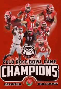 53826845 Georgia Bulldawg 2018 Rose Bowl Champs Understanding Football, Georgia  Bulldog Wreath, Georgia Bulldogs Football