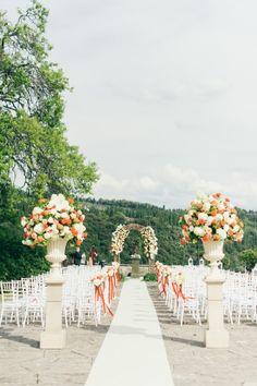 Gorgeous Italian ceremony: http://www.stylemepretty.com/destination-weddings/2015/05/19/traditional-destination-villa-wedding/   Photography: Lisa Poggi - http://www.lisapoggi.com/