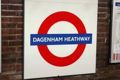 Dagenham Heathway London Underground Station in Dagenham, Greater London London Underground Tube, London Underground Stations, Tube Stations London, Ghost Walk, London Transport, Greater London, Vintage London, London Street, England