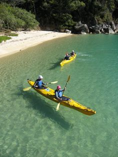 One of my favourite places I've kayaked: Abel Tasman marine reserve, NZ south island Places To Travel, Places To See, Abel Tasman, Kayaking, Canoeing, Kayak Camping, New Zealand Travel, South Island, Lake Life