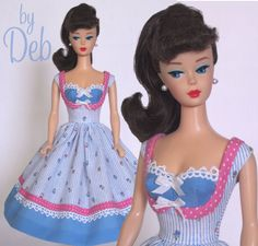 Picnic - Vintage Reproduction Repro Barbie Doll Dress Clothes Fashions #Fanfare