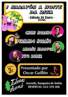 A Noite da Risa en Taberna Acevedo, Xunqueira de Ambia (Ourense) escea escena humor comedia monólogos