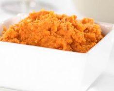 Purée nuage de patates douces au gingembre et amandes : http://www.fourchette-et-bikini.fr/recettes/recettes-minceur/puree-nuage-de-patates-douces-au-gingembre-et-amandes.html