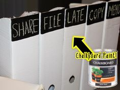 Chalk board paint on ikea magazine organizers. Classroom decor on the cheap!