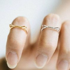 Cut Cat Ear Ring - Gold and Silver - Rosa Vila Jewelry  - 1