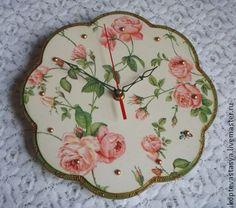 "Часы для дома ручной работы. Ярмарка Мастеров - ручная работа Часы ""Розы"". Handmade."