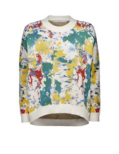 Tiger Of Sweden: Yazi J pullover - Women's pullover in viscose-blend with jacquard pattern. Ribbed trim at neck and cuffs. Tiger Of Sweden, Top Pattern, Workout Tops, Pullover Sweaters, Knitwear, Floral Tops, Sweatshirts, Polyvore, Fit