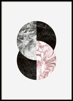 Graphic art-Plakat mit Kreisen auf hellgrauem Hintergrund. Lässt sich leicht mit den Postern aus der gleichen Serie kombinieren. Kann im Hoch- oder Querformat verwendet werden. www.desenio.de