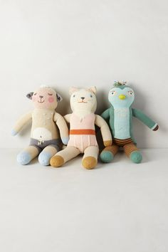 Adorable Handknit Bla Bla Dolls