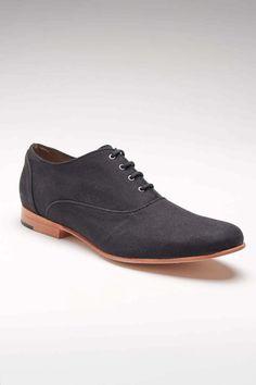 JD FISK Parkaar Oxford Shoe Black