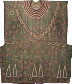 Cameroon Grasslands Ceremonial Tunic  Bamileke or Bamoum Cameroon First half 20th century 97 x 107 cms (38¼ x 42¼ ins)
