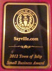 Congratulations Alina on this prestigious award for Sayville.com!