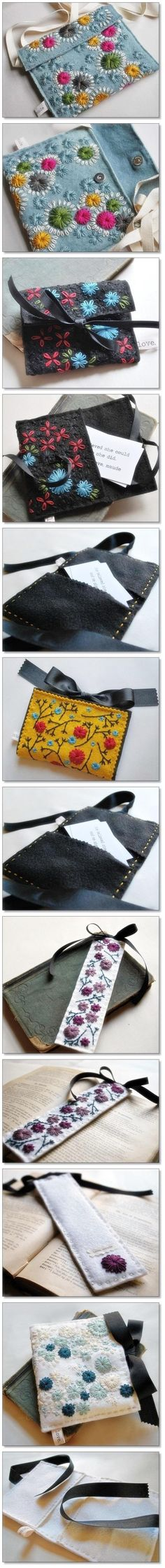 Wool Felt Accessory Gorgeous Embroidery ~ #diy #creative