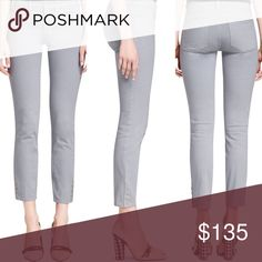 Tory Burch Skinny Ankle Jeans Brand new with tags! 🌟 Tory Burch Emmy Ankle Skinny. Size 24. Color: Mercury Grey. Super cute logo snaps at the ankles! Tory Burch Pants Ankle & Cropped