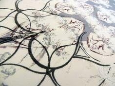 Olivia Owens © 2012 Digitally Printed and Screen Printed silk for Fashion Fabrics
