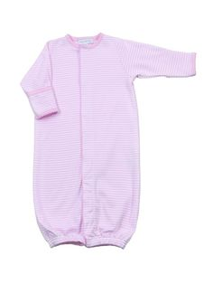 Baby girl pink converter with pink hand embroidered detail, made from the finest pima cotton