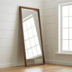 Shop Blair Walnut Floor Mirror.  The Blair Floor Mirror is a Crate and Barrel exclusive.