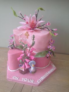 Christening Cake - Jemima Puddleduck and spring flowers  - Cake by Araluci